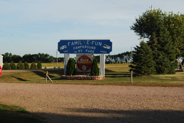 Famil E Fun Campground In Mitchell South Dakota